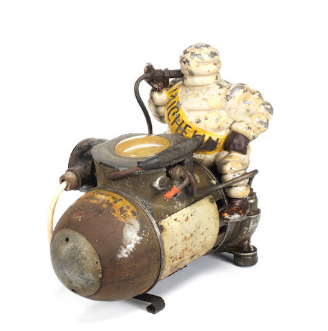 A Michelin air compressor, French, 1920s,