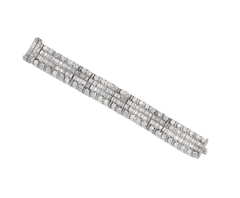 A magnificent diamond necklace and bracelet combination, by Van Cleef and Arpels,