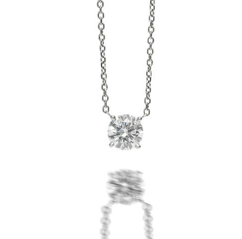 A diamond single-stone pendant, by Cartier