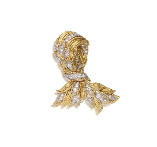 A diamond brooch, by Van Cleef and Arpels