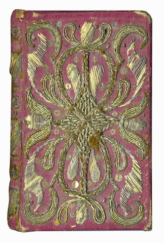 NEEDLEWORK BINDING The Whole Booke of Psalmes Collected into English Meeterby T. Sternhold, I. Hopkins, and others, 1628?