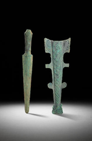 An archaic bronze short sword Early Eastern Zhou dynasty, Bashu culture