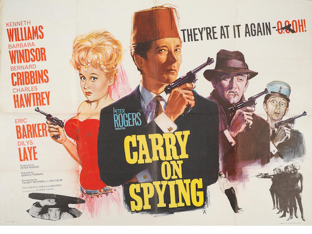 Carry On Films: A collection of six British quad posters, 1959-1972, titles including; 6