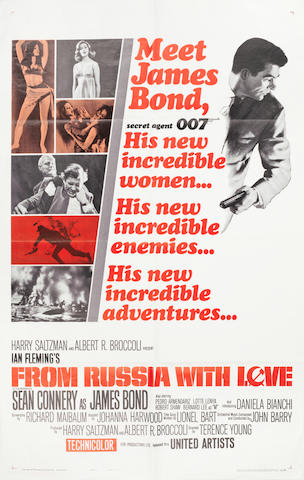 James Bond: From Russia With Love, Eon / United Artists, 1963, 2