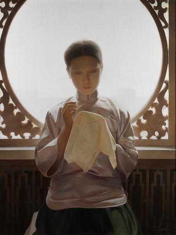 Wang Yidong (Chinese, b.1955) Silk and Silence
