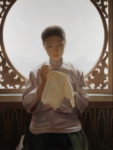 Wang Yidong (Chinese, b.1955) Silk and Silence