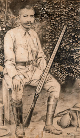 Ngwe Gaing (Burmese, 1901-1967) Man with Shotgun