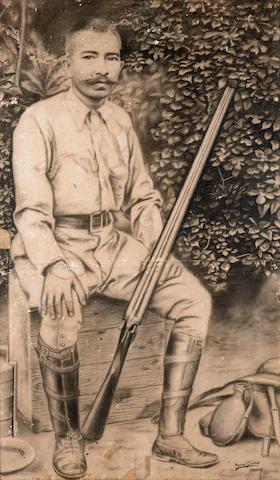 Ngwe Gaing (Burmese, 1901-1967) Man with Shotgun