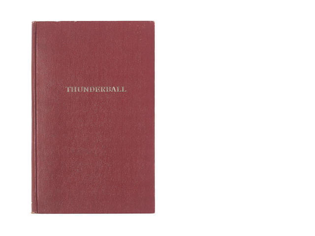 Thunderball / Jack Whittingham: A final edition bound script for the first James Bond screenplay Thunderball, circa 1960,