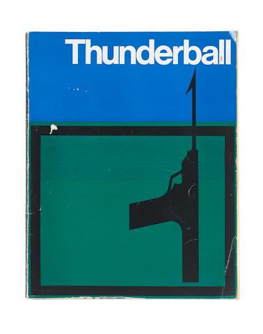 Thunderball: A premiere 'souvenir' programme given to Jack Whittingham,