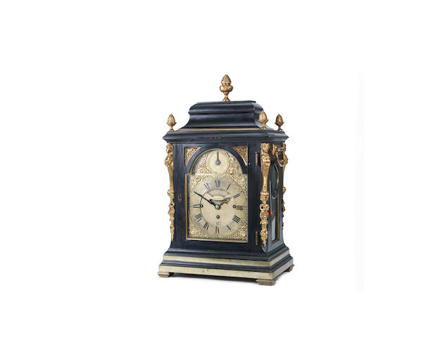 A rare late 18th century ebonised grande sonnerie four tune musical clock John Drury, London