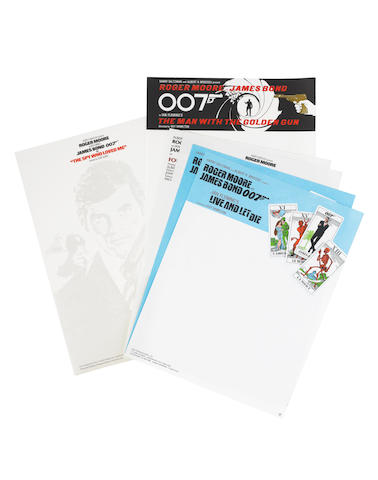 James Bond: Six sheets of Eon Productions headed notepaper,