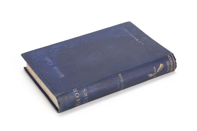 A J Wallis-Tayler: Motor Cars or Power-Carriages for Common Roads; first edition, 1897,