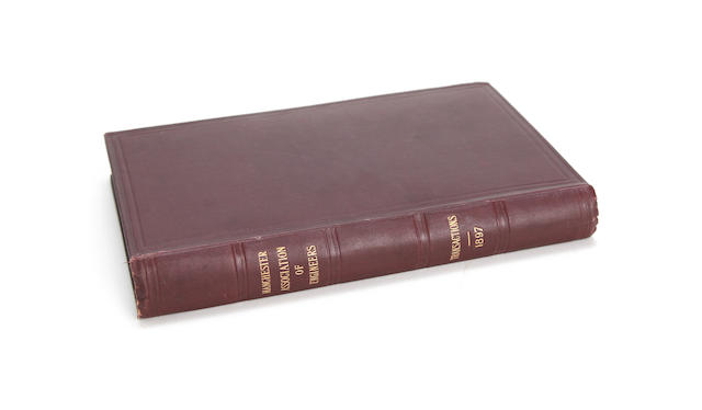 Manchester Association of Engineers - Transactions 1897, first edition,