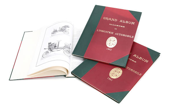 Grand Album Illustre de L'Industrie Automobilia, three reprinted Volumes,