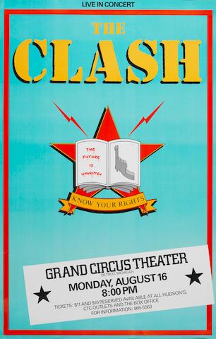The Clash: A U.S. concert poster,