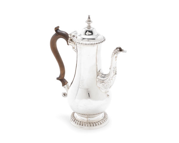 A George III silver coffee pot possibly by Joseph Bell, probably London 1764
