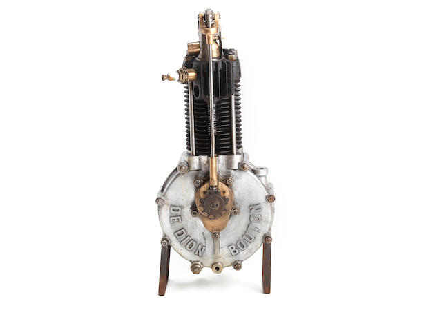 A single cylinder de Dion Bouton engine number 5235, circa 1898,