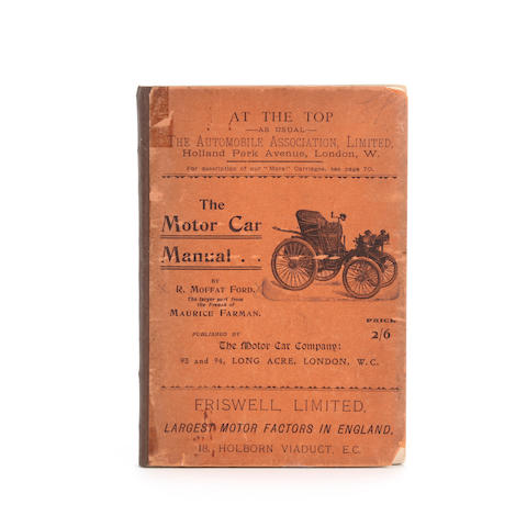 R. Moffat Ford: The Motor Car Manual, 1899,