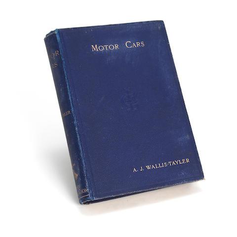 A. J. Wallis-Tayler: 'Motor cars', 1897,