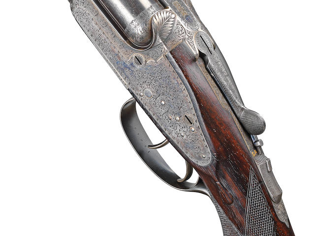 A fine .303 sidelock ejector rifle by J. Rigby & Co., no. 16845 In its brass-mounted oak and leather case titled Marchioness of Londonderry