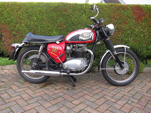 1968 BSA 650cc A65L Lightning Frame no. A65LA 17150 Engine no. A65LA 17150-Y