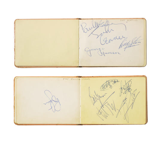 The Beatles & The Rolling Stones: An autograph book containing a collection of music and film stars, 1960s,