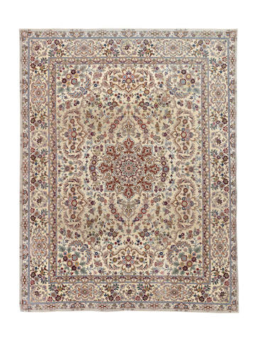 A Tabriz souf carpet, North West Persia, 394cm x 297cm