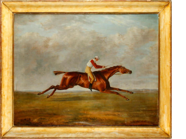 Follower of George Henry Laporte (German/British, 1799-1873) Racehorse at full stretch