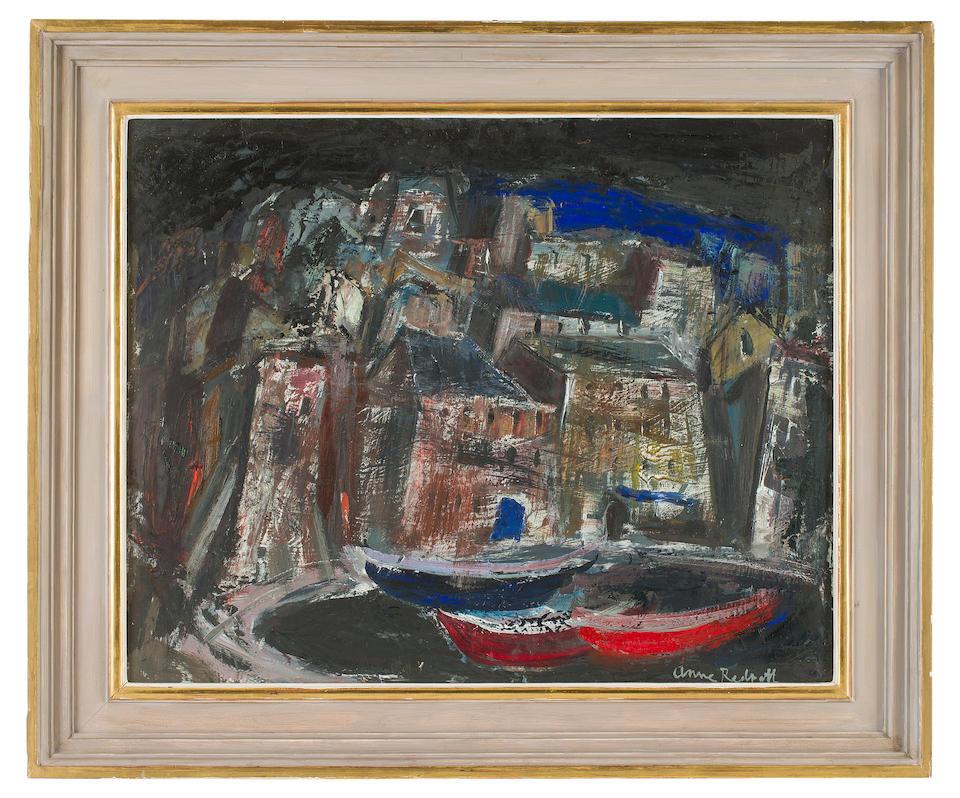 Anne Redpath, OBE RSA ARA LLD ARWS ROI RBA (British, 1895-1965) The Old Harbour, Bastia 60 x 75 cm. (23 5/8 x 29 1/2 in.)
