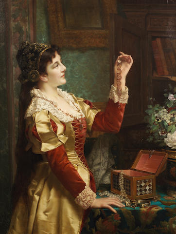Jan Portielje (Dutch, 1829-1908) The jewel case
