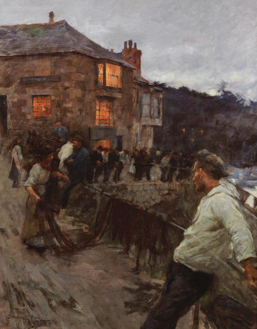 Stanhope Alexander Forbes, RA (British, 1857-1947) The Quayside, Newlyn