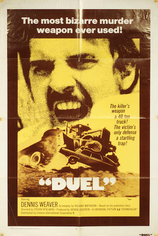 Action/ Thriller Movies of the 1970s: A collection of eight U.S. one-sheet posters, titles including: 7