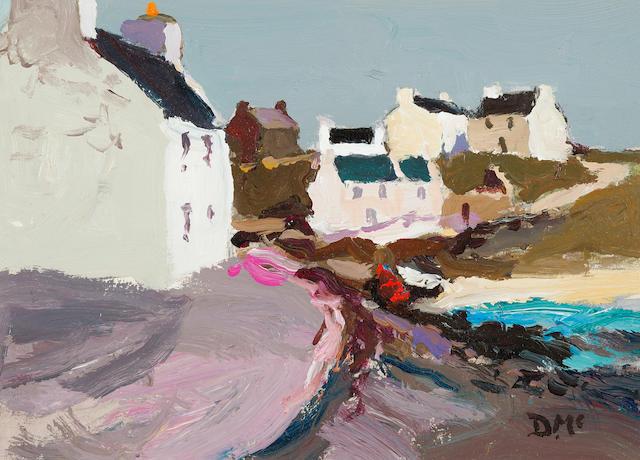 Donald McIntyre (British, 1923-2009) Morning Portnahaven 18.5 x 25.5 cm. (7 5/16 x 10 1/16 in.)