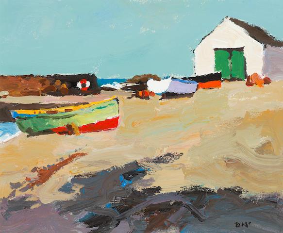 Donald McIntyre (British, 1923-2009) Harbour, Port Charlotte no.1 36 x 43.5 cm. (14 3/16 x 17 1/8 in.)