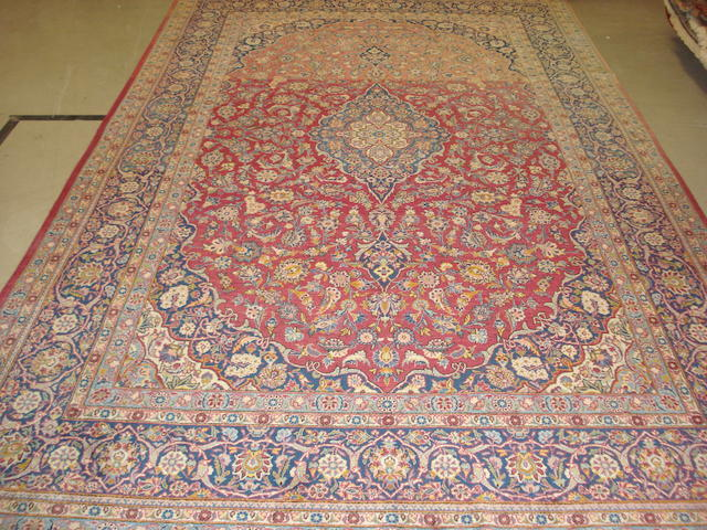 A Kashan carpet, Central Persia, 353cm x 216cm