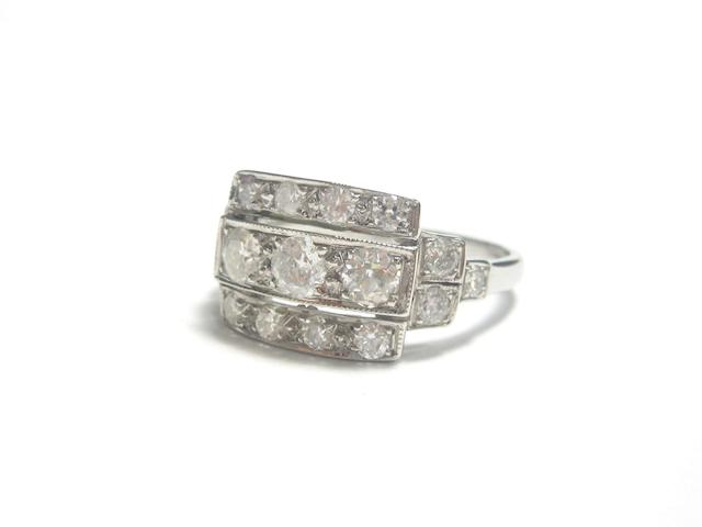An Art Deco style diamond dress ring