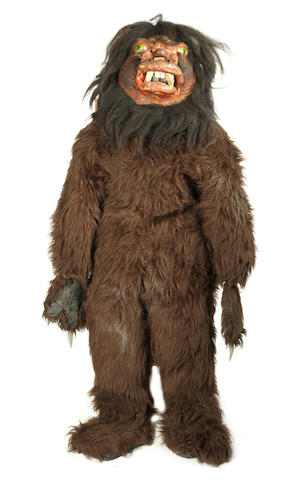 Doctor Who: The Androids of Tara - A Taran Wood Beast costume,  November - December 1978, comprising: