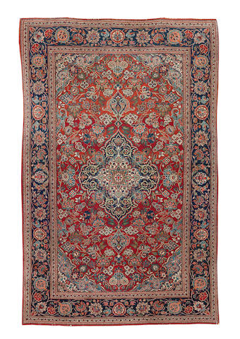 A pair of Kashan rugs, Central Persia, 210cm x 132cm