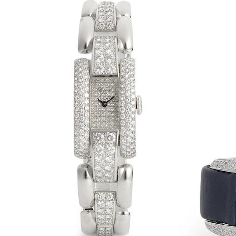 Chopard. A lady's 18ct white gold and diamond set quartz bracelet watch  La Strada, Ref:41/6883/8, Recent