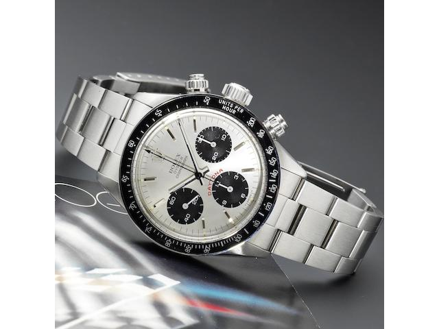 Rolex. A fine stainless steel manual wind chronograph bracelet watch  Cosmograph Daytona, Ref:6263, Serial No.629****, Circa 1979