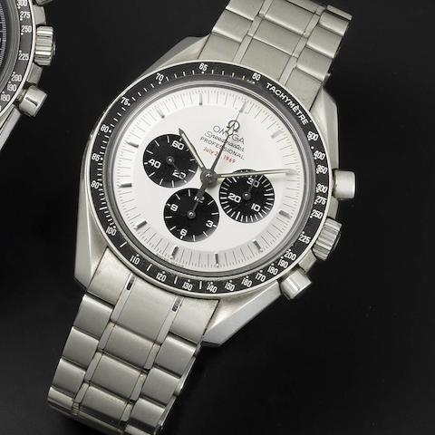Omega. A limited edition stainless steel manual wind chronograph bracelet watch Speedmaster Professional Apollo II 40th Anniversary, 1192/3500,  Made 2009