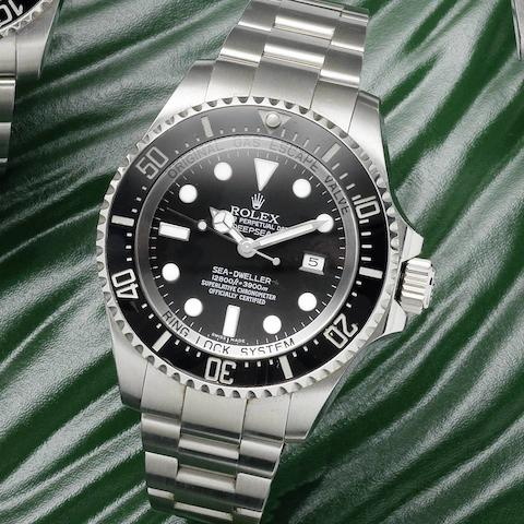 Rolex. A stainless steel automatic calendar bracelet watch Deepsea, Sea-Dweller, Ref:116660, Serial No.V05****, Circa 2008