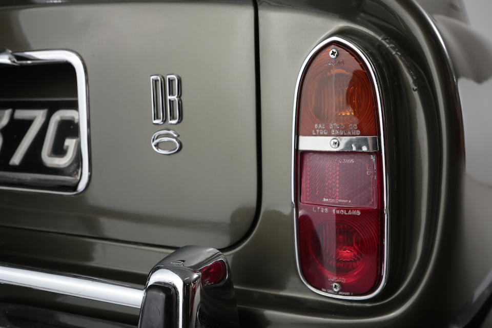Property of a deceased's estate,1968 Aston Martin DB6 Vantage Sports Saloon  Chassis no. DB6/3505/R Engine no. 400/3760/VC