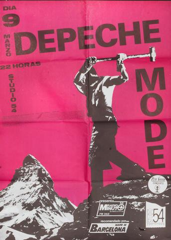 Depeche Mode: A Spanish concert poster,
