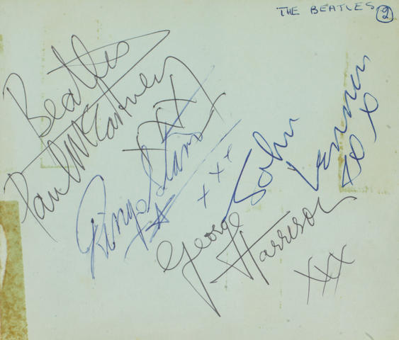 The Beatles: A set of autographs, 1963, and related material,