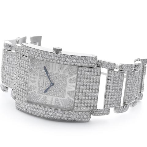 Chopard. A fine and very rare 18ct white gold and diamond set quartz bracelet watch La Strada, 41/7091 8-20, Recent