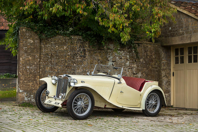 Property of a deceased's estate,1949 MG  Chassis no. TC10104 Engine no. XPAG10823