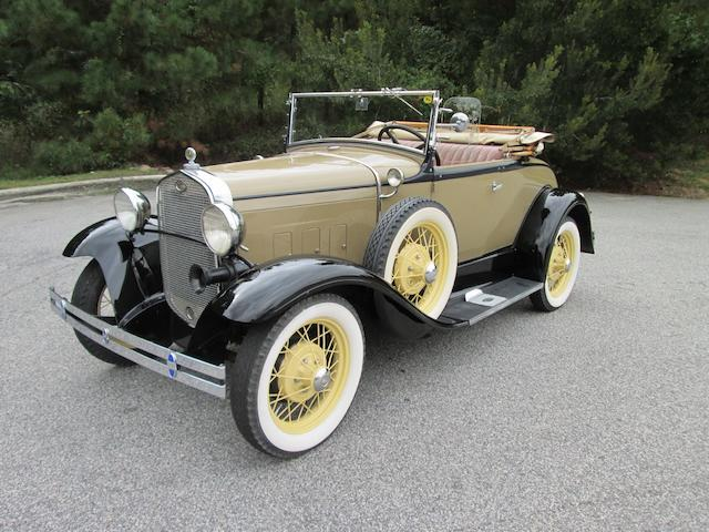 1931 Ford Model A Roadster Deluxe  Chassis no. 4296387 Engine no. to be advised
