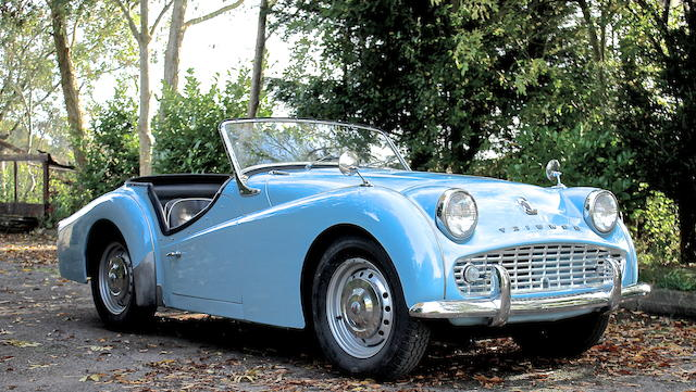 One owner, 21,000 miles from new,1959 Triumph TR3A Roadster  Chassis no. TS44436L Engine no. TS45184E